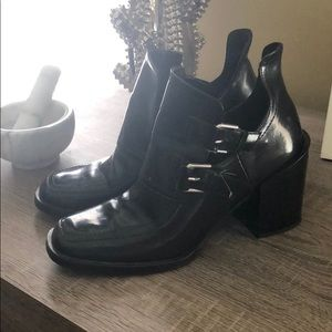 NWOT Zara Faux Leather booties